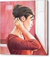 Audrey Tautou Canvas Print