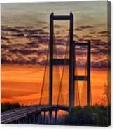 Audubon Bridge Sunrise Canvas Print