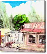Auggies Pool Hall Canvas Print