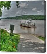 Historic Augusta Ferry. Canvas Print