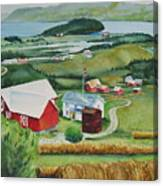 Aune Farm In Selbu Norway Canvas Print