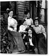 Aunt Emma, Morris, Edith, Fred And Charles On Porch June 12, '97 Canvas Print