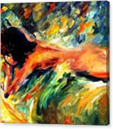 Aura Of Love - Palette Knife Oil Painting On Canvas By Leonid Afremov Canvas Print
