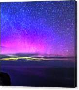 Aurora At Ceide Fields Canvas Print