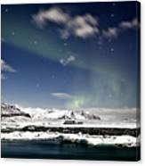 Aurora At Glacier Lagoon Canvas Print