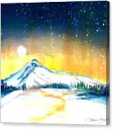 Mount Hood's Starry Crown Canvas Print