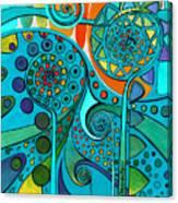 Aurora Borealis Green Canvas Print