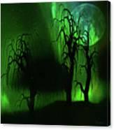 Aurora Borealis Lights - Painting Canvas Print