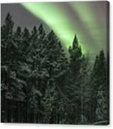 Aurora Borealis Over Finland Canvas Print