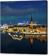 Aurora Over Stockholm In The Fall 2018 Canvas Print
