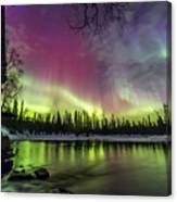 Auroras At The Mill Canvas Print