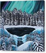 Aurora's Fiery Display Canvas Print