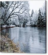 Ausable Winter Canvas Print