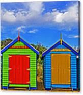 Aussie Beach Boxes Canvas Print
