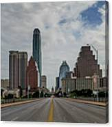 Austin From Congress Street Bridge Canvas Print