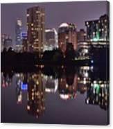 Austin Lights Up Lady Bird Lake Canvas Print