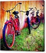Austin Texas Bikes  -- Original Painting Canvas Print