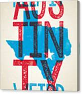 Austin Poster - Texas - Keep Austin Weird Canvas Print