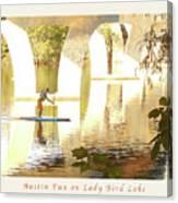 Austin Texas - Lady Bird Lake - Mid November Three - Greeting Card Canvas Print