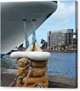 Australia - Cruise Ship Tied Up Canvas Print
