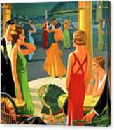 Australia, Romantic Night, Dance And Music, Hotel Terrace Canvas Print