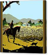 Australia, Shepherd Canvas Print
