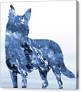 Australian Kelpie-blue Canvas Print
