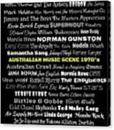 Australian Music Scene 1970's No 8 Canvas Print