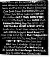 Australian Music Scene 1970's No 1 Canvas Print