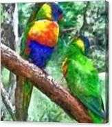 Australian Parakeets Canvas Print
