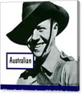 Australian This Man Is Your Friend  Canvas Print