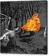 Australopithecus And The Dragon Canvas Print