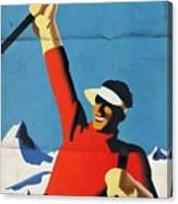 Austria Ski Tourism - Vintage Poster Folded Canvas Print
