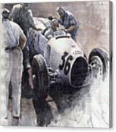 Auto Union B Type 1935 Italian Gp Monza B Rosermeyer Canvas Print