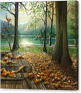 Autum Splendor Bunzen Lake Canvas Print
