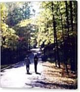Autum Walking 2 Wcaedb2 Canvas Print