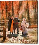 Autumn - People - A Walk In The Countryside Canvas Print