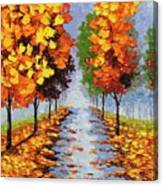 Autumn Alley Canvas Print