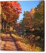 Autumn Along The Canal Canvas Print