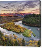 Autumn Along The Snake River Canvas Print