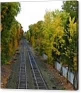 Autumn Along The Tracks Canvas Print