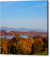 Autumn And The Hudson River Canvas Print