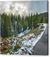 Autumn And Winter In One Canvas Print