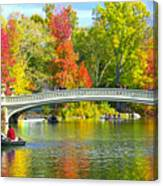 Autumn At Bow Bridge Central Park Canvas Print