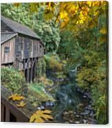 Autumn At Cedar Creek Grist Mill Canvas Print