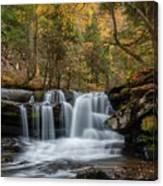 Autumn At Dunloup Creek Falls Canvas Print