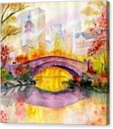 Autumn at Gapstow Bridge Central Park Canvas Print