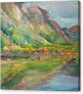 Autumn At Lake Mcdonald In Glacier National Park Canvas Print