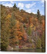 Autumn At Pink Lake Canvas Print