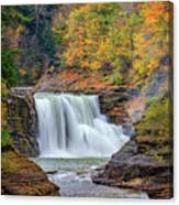 Autumn At The Lower Falls Canvas Print
